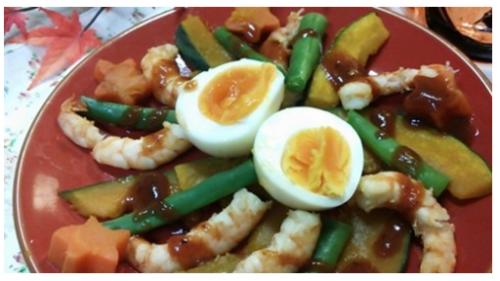 海老卵料理
